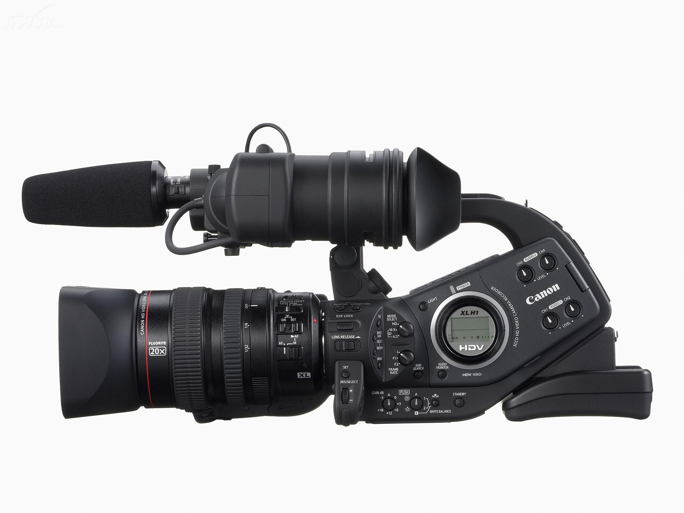 佳能xl h1摄像机产品图片4素材-it168摄像机图片大全