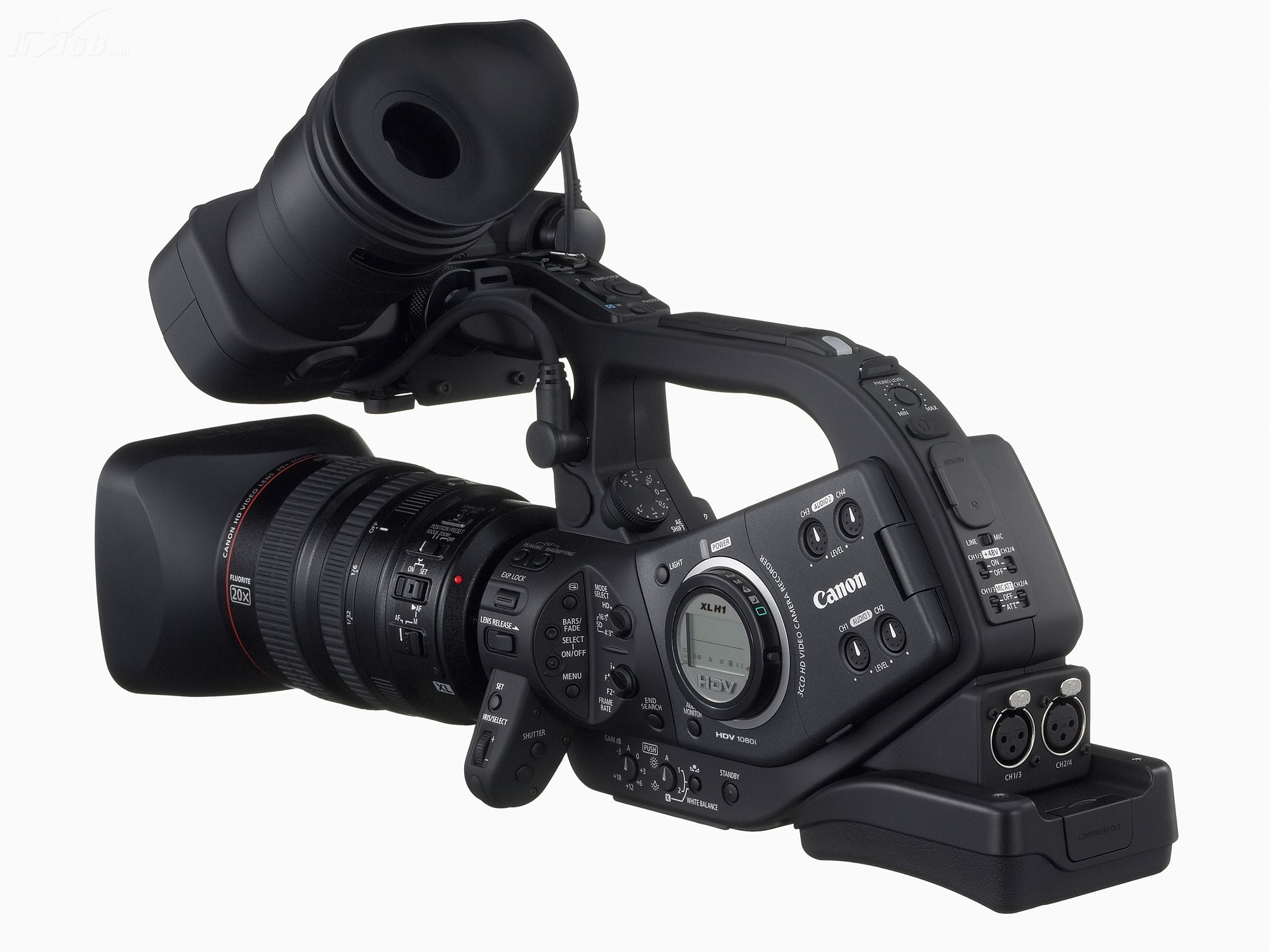 佳能xl h1摄像机产品图片6素材-it168摄像机图片大全