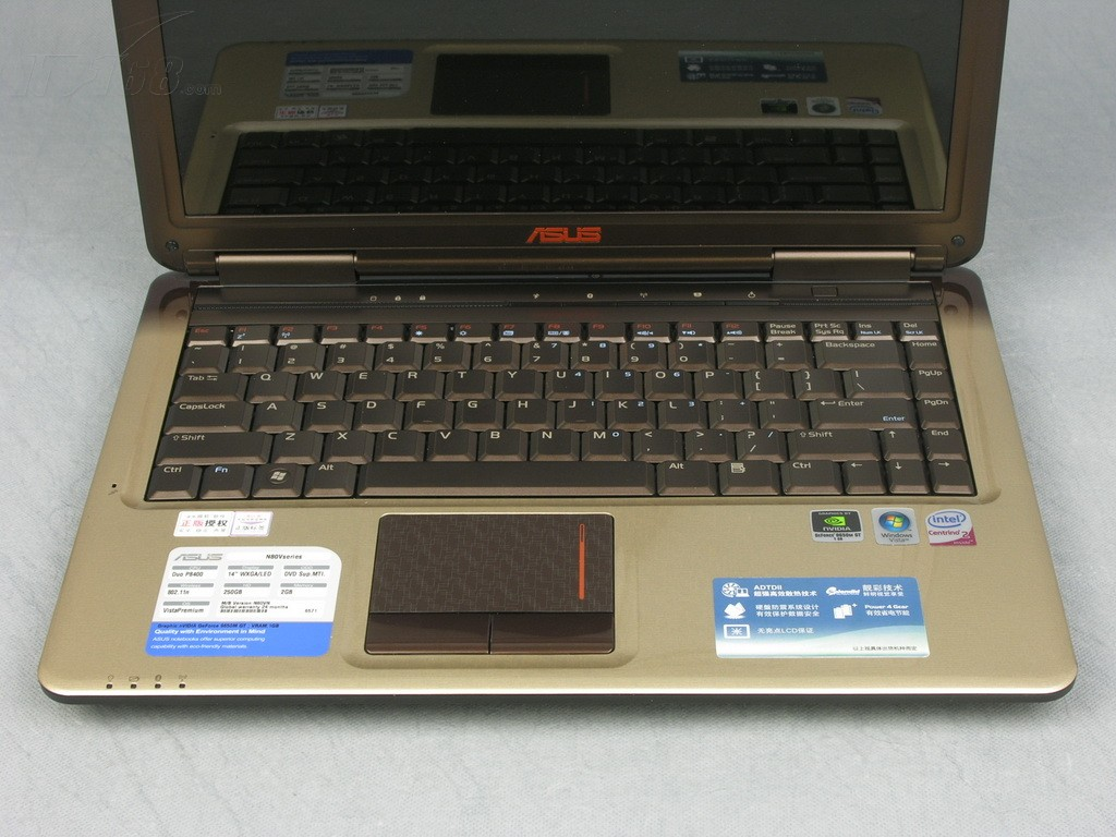 华硕N80H667VM 笔记本产品图片8素材
