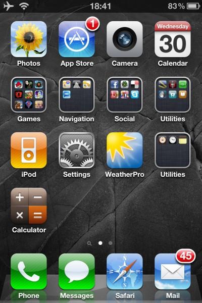 苹果iphone4 32g界面图片10素材-it168手机图片大全