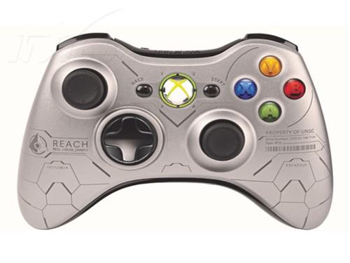 微软Xbox360 slim 光环限定主机游戏机产品图