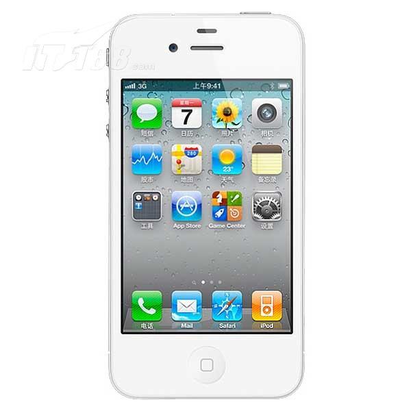苹果iphone4 8g版3g手机(白色)wcdma/gsm国行手机