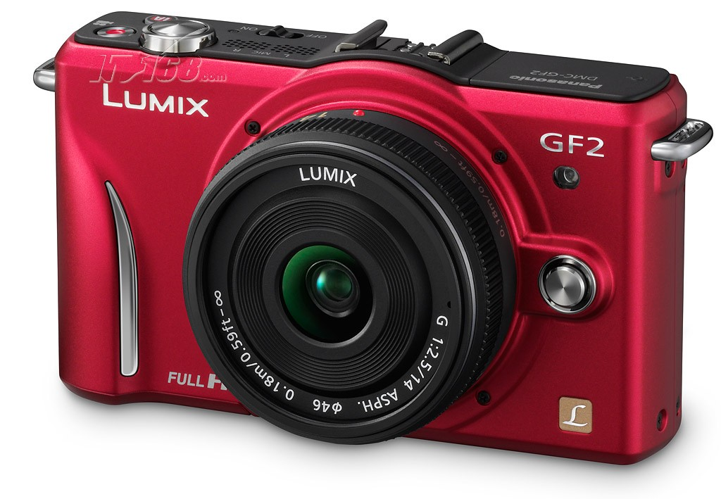 松下gf2套机(14mm)红色图片3素材-it168数码相机图片