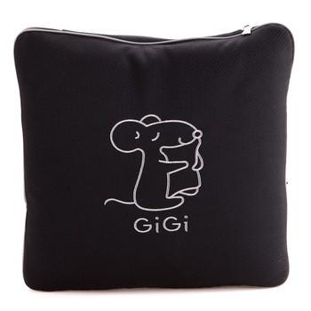 gigig-1212 抱枕被 黑色颈枕腰靠产品图片1素材-it168