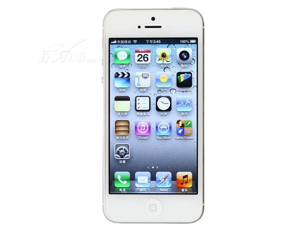 苹果iphone5 32g版3g手机(黑色)cdma2000/cdma电信合约机正面图片