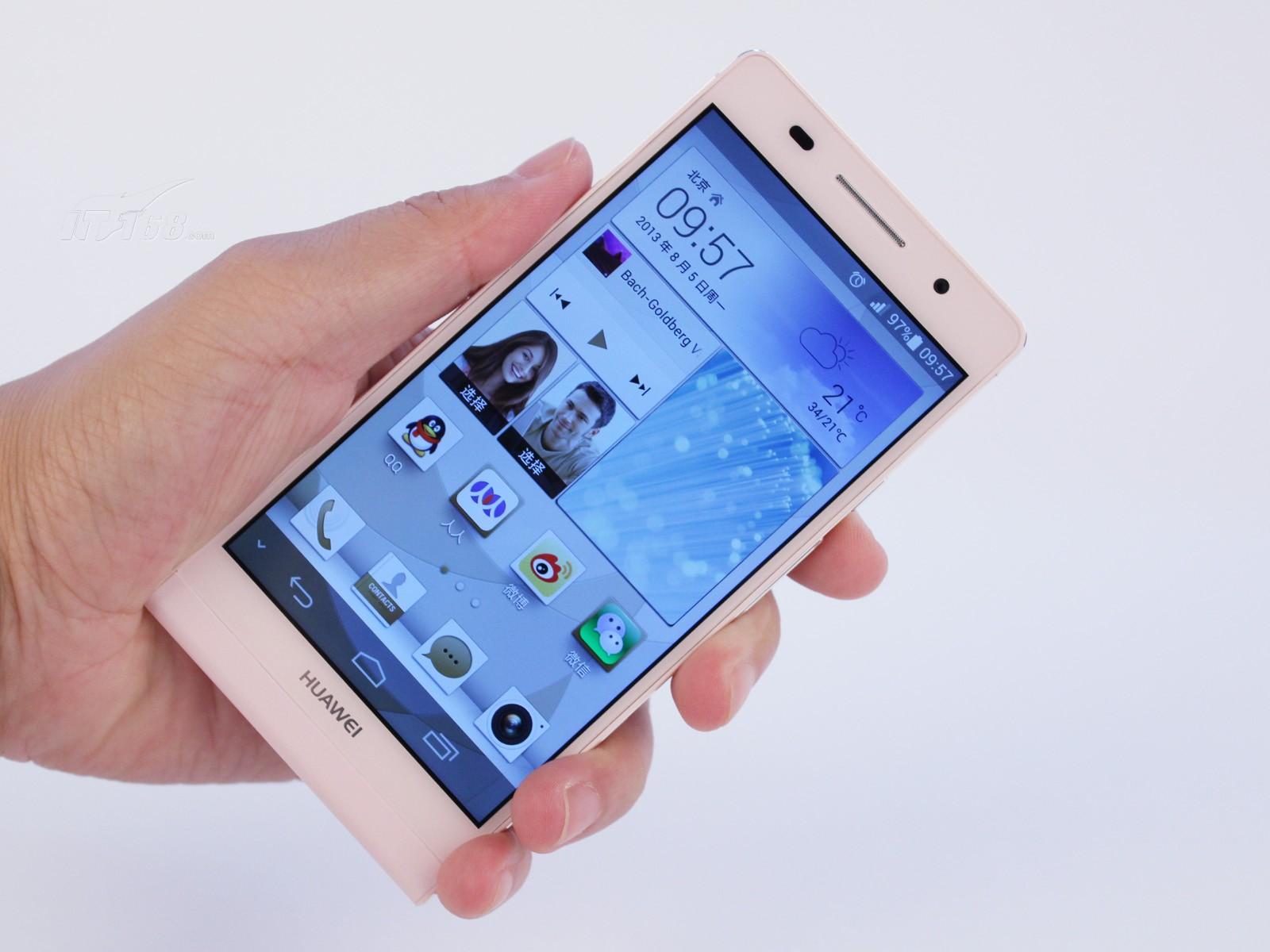 华为p6 联通3g手机(粉色)wcdma/gsm非合约机细节图片9