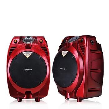 新科s6 大功率移动|广场舞会|户外便携 电瓶音箱 (红色)迷你音响产品