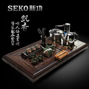 新功(seko)黑檀木茶盘茶具