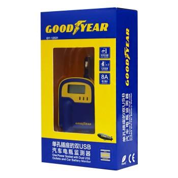 goodyear汽车充电器 汽车电瓶电压显示器