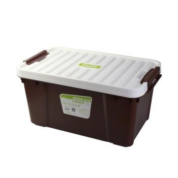 车用工具箱 环保塑料 巧克力 白盖 ek-630大号储物箱产品图片1