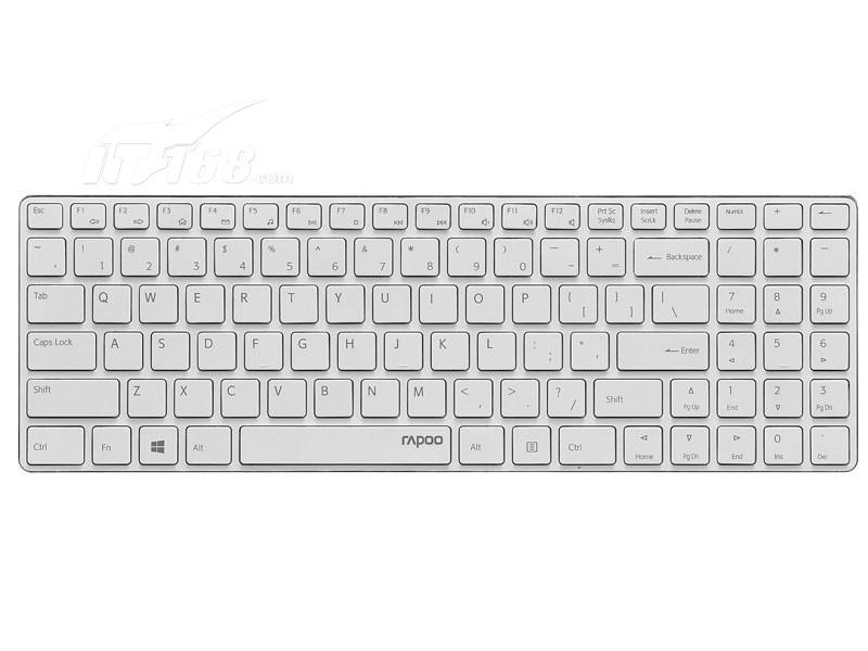 雷柏e9100p 无线超薄键盘 银色键盘产品图片1素材-it