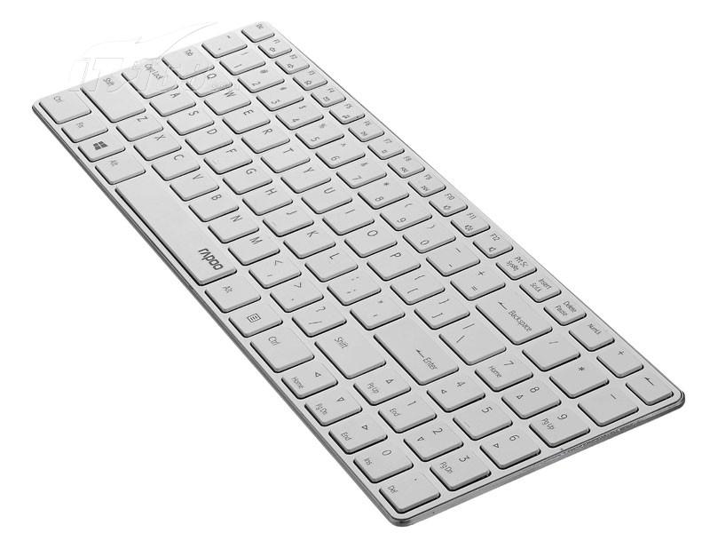 雷柏e9100p 无线超薄键盘 银色键盘产品图片4素材-it