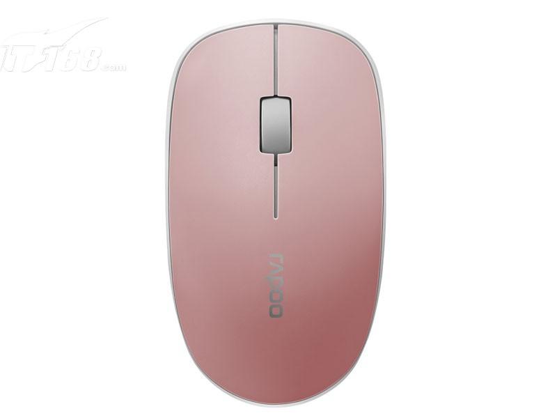 雷柏3500p 无线光学鼠标 粉色鼠标产品图片3素材-it