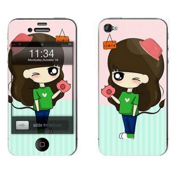 利乐普(leap)苹果5s卡通图案彩膜 iphone5/5s屏保彩贴 手机保护膜高清