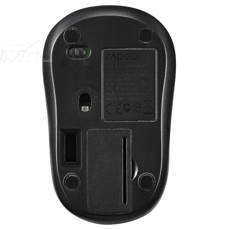 雷柏m218 无线光学鼠标 黑色鼠标产品图片8素材-it168