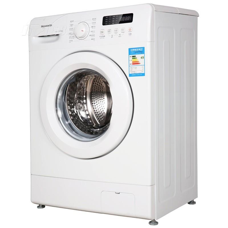创维f60a 6公斤led显示节能滚筒洗衣机(高温杀菌)