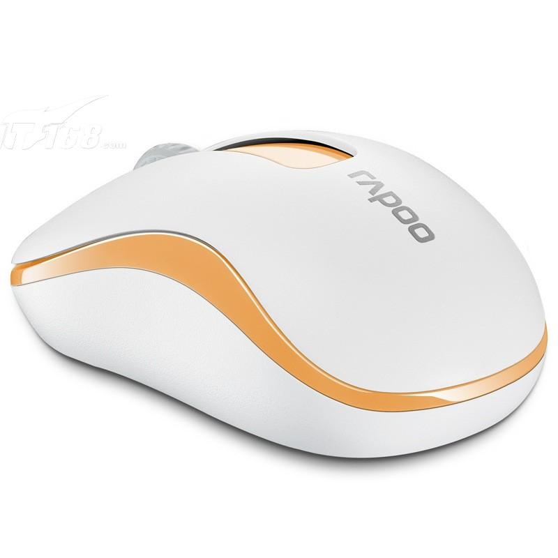 雷柏m218 无线光学鼠标 橙色鼠标产品图片3素材-it168