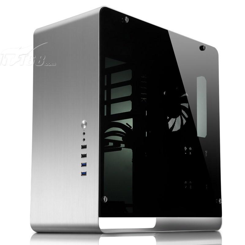 乔思伯umx4 全铝atx机箱 银色 双侧钢化玻璃大侧透机箱产品图片4