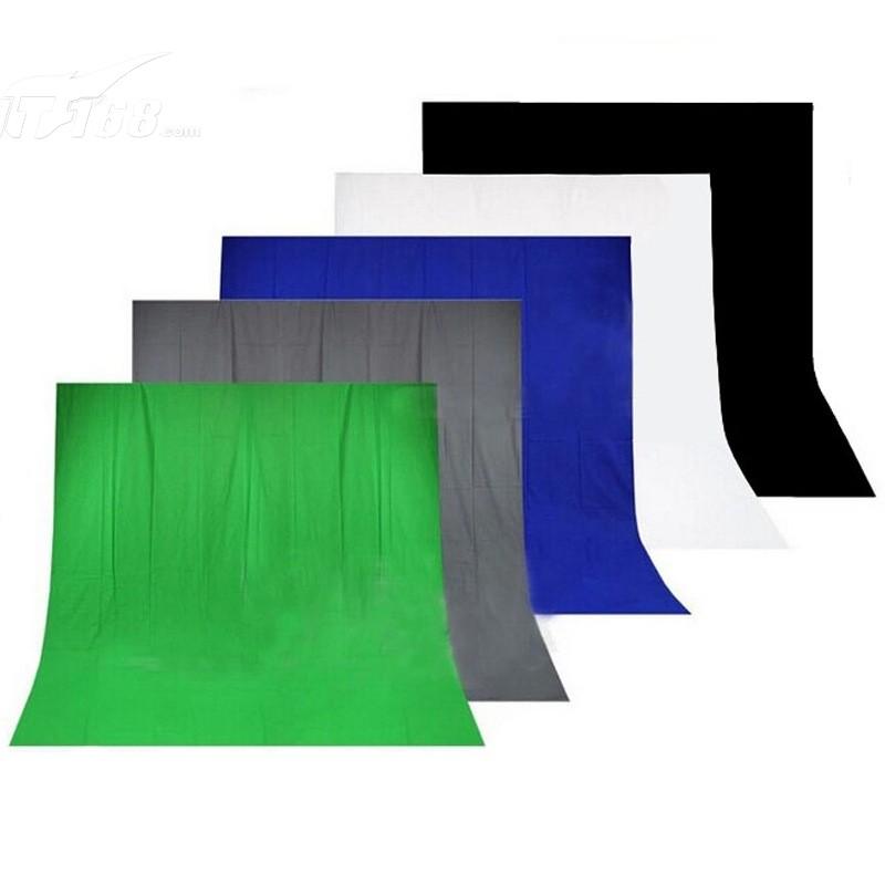 金贝3*6m纯棉背景布蓝色摄影器材产品图片2素材-it168