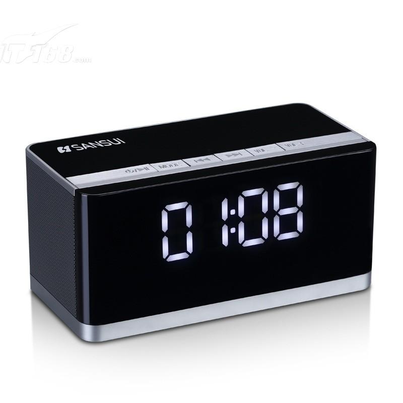 山水e39 无线蓝牙迷你音响插卡收音机播放器手机音箱 黑色音箱产品