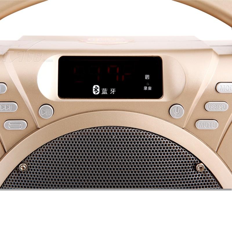 金正avs-618j广场舞音响户外蓝牙音箱 插卡扩音器拉杆音箱(金色)迷你