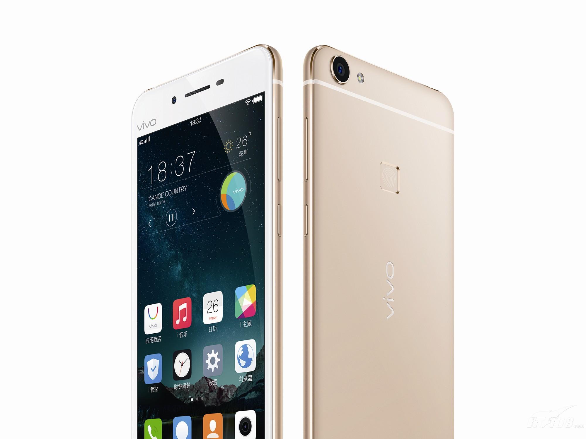 vivox6 全网通 金色手机产品图片5素材-it168手机图片