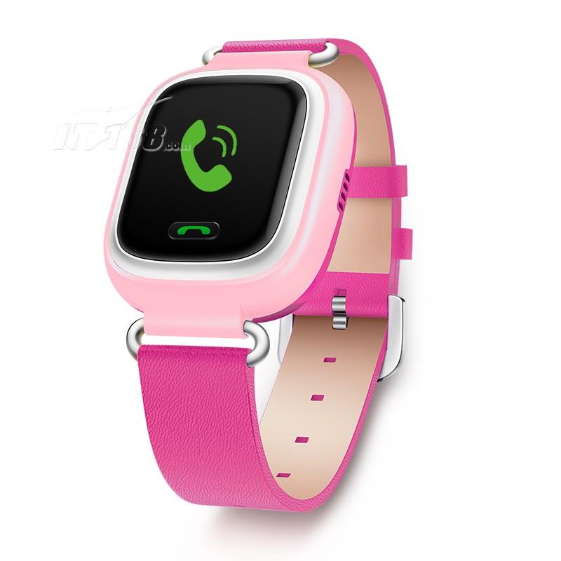 小天才电话手表y01 皮革粉色 儿童智能手表360度防护
