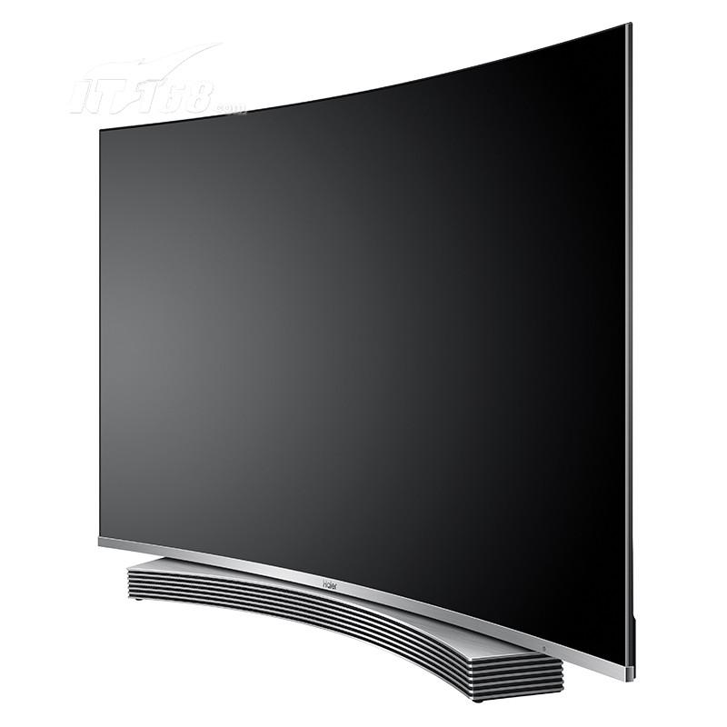 海尔ls55u91 55英寸纤薄4k曲面64g音乐led液晶电视(黑色)平板电视产品
