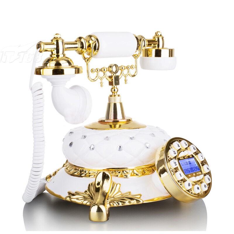 金色镶钻欧式电话机 时尚创意复古家用座机电话机