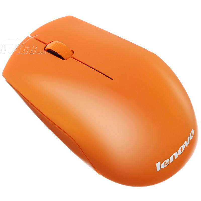 联想n500 无线光学鼠标 橙色鼠标产品图片2素材-it168