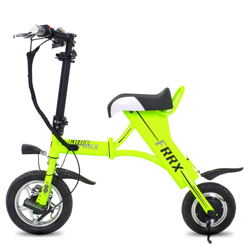 法克斯mini折叠电动自行车锂电电动滑板车成人迷你单车便携时尚助力车