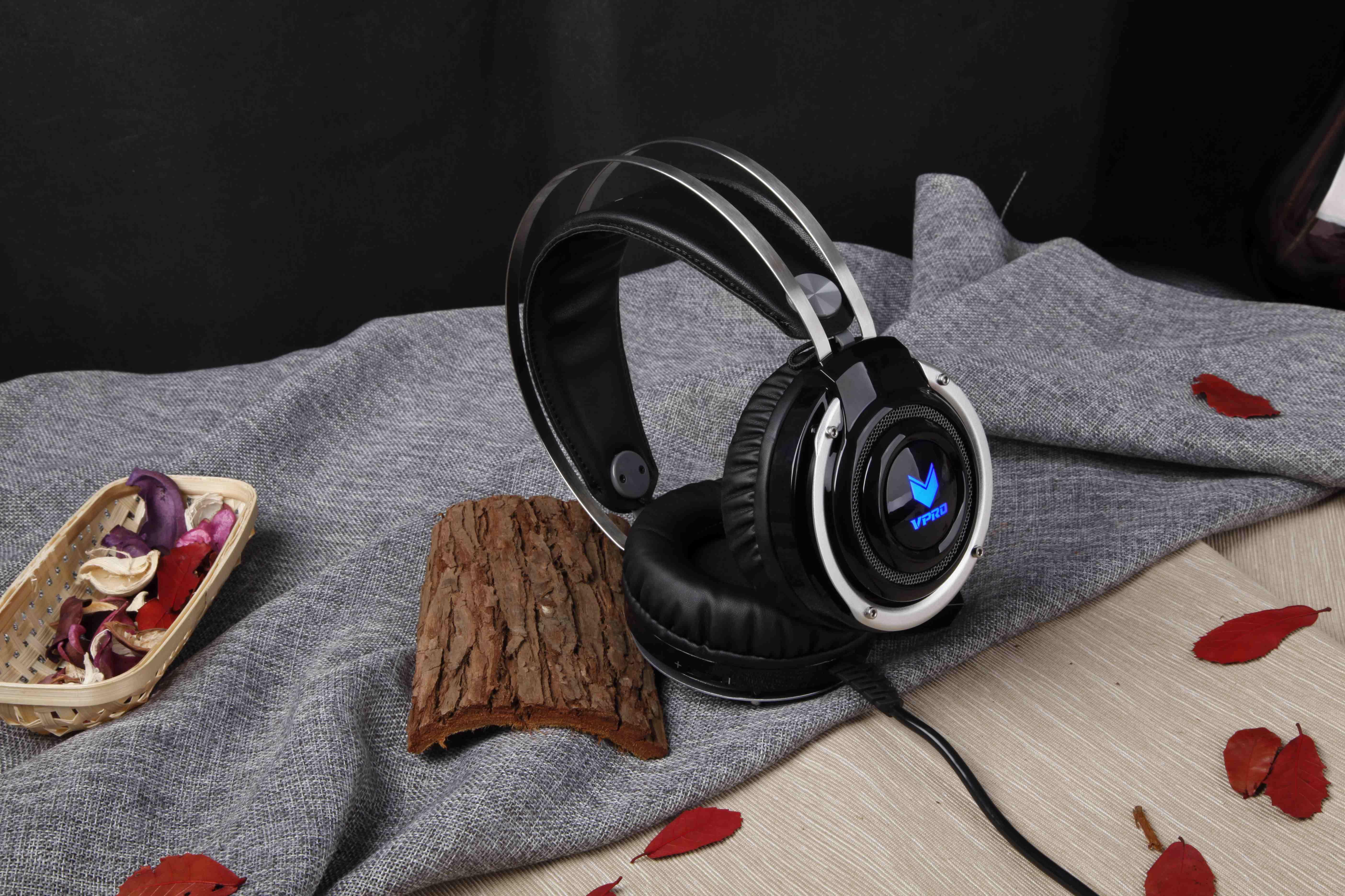 雷柏vh100背光游戏耳机 耳机产品图片6素材-it168耳机