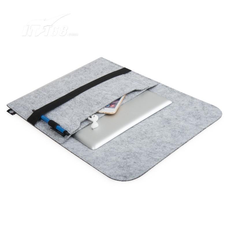 金胜平板电脑内胆包12英寸+数码收纳包两件套 浅灰色 (ks-pbs12g)移动