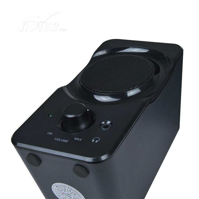 0多媒体有源小音箱 音响 电脑音箱 黑色音箱产品图片5