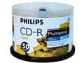 飞利浦CD-R 52X 黄金方块 50片包桶装