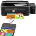 爱普生L455 墨仓式 智能无线打印机一体机(打印 复印 扫描 云打印 无线直连)