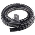 IT-CEO 理线器束线管电源电线收纳盒 固定收绑理线带整理绕线器 黑色(带理线夹/直径28mm/长3米/X0SXG-B)