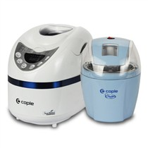 其他 客浦(caple)冰淇淋机甜蜜营养超值套装(冰淇淋机+面包机)CA-TZ001 蓝色