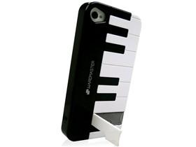 黑贝壳 iphone4s/iphone4钢琴款手机壳 黑色