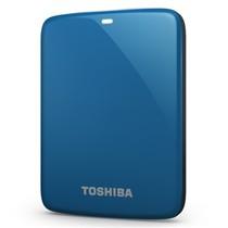 东芝 V7 Canvio高端分享系列2.5英寸移动硬盘(USB3.0)750G(神秘蓝)