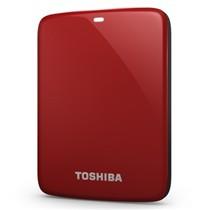 东芝 V7 Canvio高端分享系列2.5英寸移动硬盘(USB3.0)1TB(活力红)