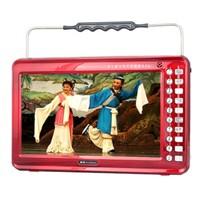 金正 视频播放器M22B 13寸高清播放器老人看戏机唱戏机支持全格式可插卡U盘 大 红色标配+4G戏曲广场舞视频卡