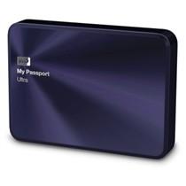 西部数据 My Passport Ultra 金属版USB3.0 2TB 超便携移动硬盘 (宝石蓝)BEZW0020BBA
