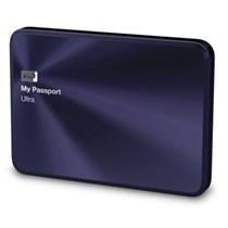 西部数据 My Passport Ultra 金属版USB3.0 1TB 超便携移动硬盘 (宝石蓝)BTYH0010BBA