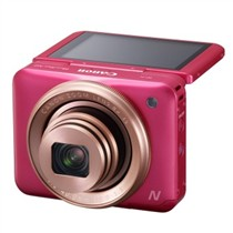 佳能 PowerShot N2 数码相机 粉色 自拍相机 180°上翻式触摸屏 1610万有效像素 wifi传输