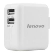 联想 A12 原装USB智能充电器 1A与2.1A双USB接口 手机平板电脑通用 电源适配器 白色