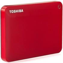 东芝 V8 CANVIO高端分享系列2.5英寸移动硬盘(USB3.0)1TB(活力红)