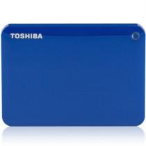 东芝 V8 CANVIO高端分享系列2.5英寸移动硬盘(USB3.0)2TB(神秘蓝)