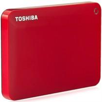 东芝 V8 CANVIO高端分享系列2.5英寸移动硬盘(USB3.0)3TB(活力红)