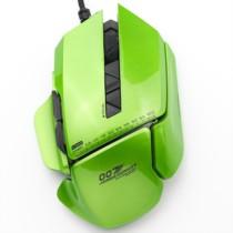 贝戋马户 007 坐骑有线游戏鼠标 幻彩绿